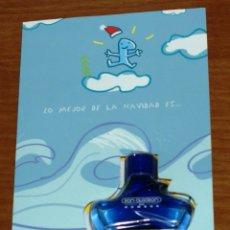 Miniaturas de perfumes antiguos: FRASCO MINIATURA DON ALGODON HOMBRE 30ML.-TARJETA DE NAVIDAD-MYRURGIA-PODERLA PASAR CONTIGO-MUY RARO. Lote 56095574