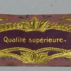 Miniaturas de perfumes antiguos: ETIQUETA PARFUM EXQUIS - MODERNISTA PRINCIPIOS DE SIGLO AÑOS 20, MIDE 10,5 X 2,4 CMS.. Lote 56198991