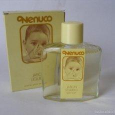 Miniaturas de perfumes antiguos: JABÓN LIQUIDO NENUCO AÑOS 70 - 80 , A ESTRENAR. Lote 179213701