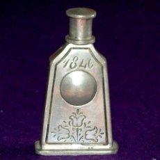 Miniaturas de perfumes antiguos: ANTIGUO PERFUMERO. AÑO 1846. DE ESTAÑO. EL REI- PORTUGAL. FRASCO PERFUME MINIATURA.. Lote 56818810