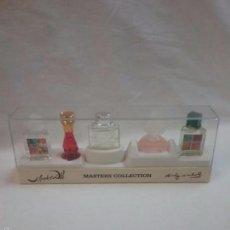 Miniaturas de perfumes antiguos: CAJA DE MINIATURAS DE PERFUME PARFUMS SALVADOR DALI - ANDY WARHOL - EN SU CAJA ORIGINAL . Lote 58018888