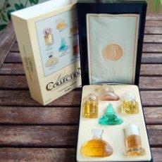 Miniaturas de perfumes antiguos: ESTUCHE CON 6 PERFUMES MINIATURA PARFUMS COLLECTION PRESTIGE, PARIS. Lote 63323860