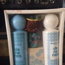 Miniaturas de perfumes antiguos: ESTUCHE DE NENES COLONIA CON MUÑECO. Lote 63395720