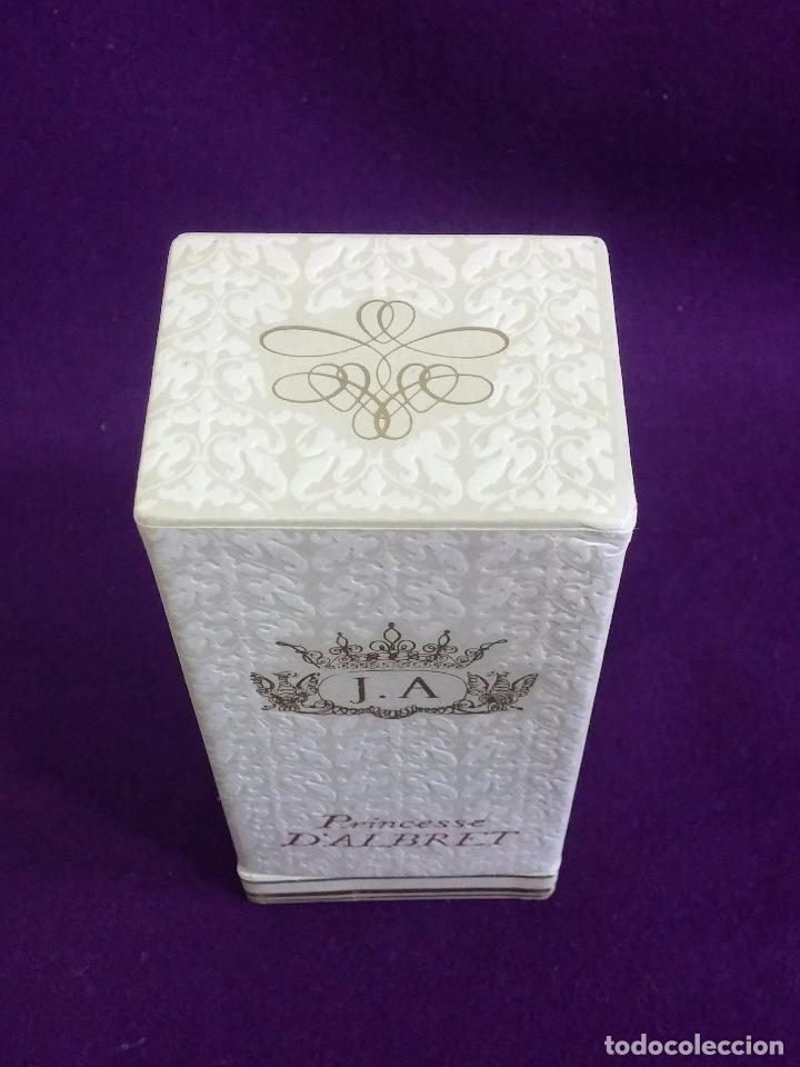 Miniaturas de perfumes antiguos: ANTIGUO FRASCO DE PERFUME J.A. PRINCESSE DALBRET. JEAN DALBRET PARIS. 1960. EN CAJA ORIGINAL. RARO - Foto 4 - 65980714