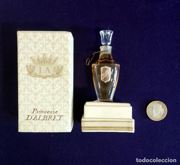 Miniaturas de perfumes antiguos: ANTIGUO FRASCO DE PERFUME J.A. PRINCESSE DALBRET. JEAN DALBRET PARIS. 1960. EN CAJA ORIGINAL. RARO - Foto 7 - 65980714