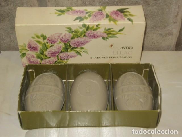 JABON AVON,CAJA DE 3 JABONES AVON. (Coleccionismo - Miniaturas de Perfumes)
