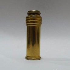 Miniaturas de perfumes antiguos: ANTIGUO ATOMIZER PERFUMERO EN METAL CROMADO COLOR ORO- ESPAÑA SIGLO XX. Lote 67937801
