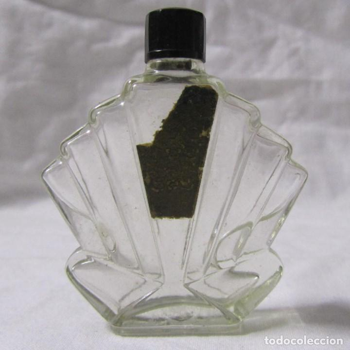 FRASCO DE PERFUME MODERNISTA PRINCIPIOS DEL SIGLO XX VIDRIO Y BAQUELITA (Coleccionismo - Miniaturas de Perfumes)