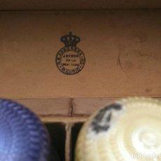 Miniaturas de perfumes antiguos: FANTASTICO Y ANTIGUO ESTUCHE DE PERFUMEROS DE R G ANSORENA JOYERO DE LA REAL CASA MADRID. Lote 68675329