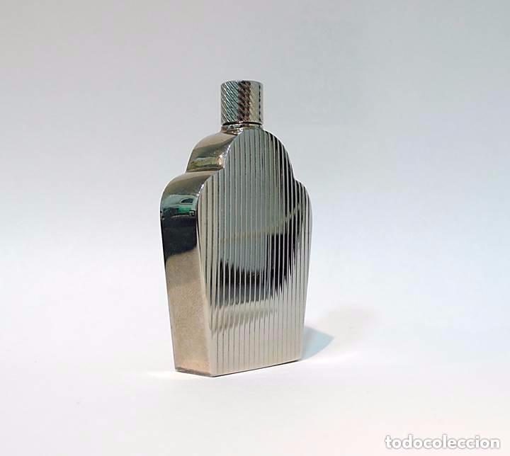 PERFUMERO METAL CROMADO ESTILO ART DECÓ - S.XX (Coleccionismo - Miniaturas de Perfumes)