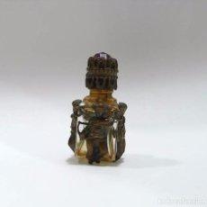 Miniaturas de perfumes antiguos: MINIATURA PERFUME PERFUMERO EN CRISTAL DE ROCA Y FILIGRANA LATÓN ÁNGELES CUPIDO-PRINCIPIOS S.XX. Lote 73048999