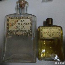 Miniaturas de perfumes antiguos: PAREJA DE DOS FRASCOS DE COLONIA MUY ANTIGUOS DE LA CASA GAL, COLONIA AÑEJA, UNO LLENO. Lote 73499783