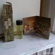 Miniaturas de perfumes antiguos: MINIATURA DE EAU DE TOILETTE MOTOR RACING - SEGURA. Lote 153210914