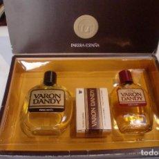 Miniaturas de perfumes antiguos: BARON DANDY ESTUCHE COLONIA LOCION JABON. Lote 75907731