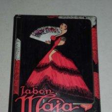 Miniaturas de perfumes antiguos: PASTILLA DE JABON MAJA DE MYRURGIA 81 GRAMOS. Lote 75986987