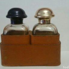Miniaturas de perfumes antiguos: ANTIGUO ESTUCHE AÑOS 60 EAU D'HERMES. Lote 79865575