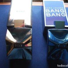 Miniaturas de perfumes antiguos: FRASCOS COLONIA (2) MARC JACOBS - AZUL&GRIS CON LA CAJA.COMPLETOS.SPRAY PDELUXE. Lote 81659248