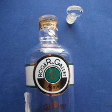 Miniaturas de perfumes antiguos: FRASCO COLONIA (1) ROGER & GALLET FRASCO DE CRISTAL RELLENABLE PDELUXE. Lote 81661644