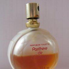 Miniaturas de perfumes antiguos: PANTHERE DE CARTIER , FRASCO ORIGINAL MEDIO LLENO. Lote 81697180