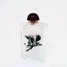 Miniaturas de perfumes antiguos: SNUFF- TABAQUERA DE CRISTAL PARA RAPE O PERFUMERO ORIENTAL DECORADA A MANO S.XX. Lote 47476095