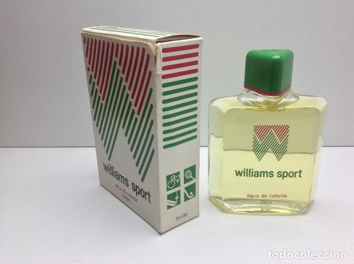 Miniaturas de perfumes antiguos: AGUA DE COLONIA WILLIAMS SOPORT 200 ml RESTO PERFUMERIA - Foto 2 - 86693100