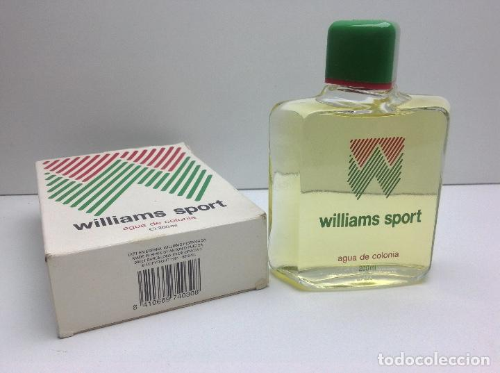 Miniaturas de perfumes antiguos: AGUA DE COLONIA WILLIAMS SOPORT 200 ml RESTO PERFUMERIA - Foto 4 - 86693100