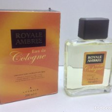 Miniaturas de perfumes antiguos: AGUA DE COLONIA ROYALE AMBREE 200ML RESTO PERFUMERIA. Lote 86694108