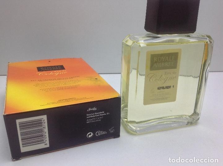 Miniaturas de perfumes antiguos: AGUA DE COLONIA ROYALE AMBREE 200ml RESTO PERFUMERIA - Foto 3 - 86694108