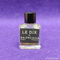 Miniaturas de perfumes antiguos: LE DIX. BALENCIAGA. ANTIGUO FRASCO MINIATURA DE PERFUME. PARIS. FRANCE. AÑOS 50. COLONIA.. Lote 86732696