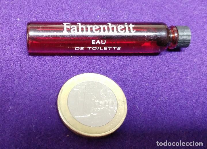Miniaturas de perfumes antiguos: FAHRENHEIT. CHRISTIAN DIOR. FRASCO MINIATURA DE PERFUME. PARIS. MUESTRA COLONIA. - Foto 2 - 86734648