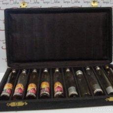 Miniaturas de perfumes antiguos: RARA CAJA ESTUCHE DE PERFUMEROS ESENCIAS VER FOTOGRAFIAS VACIAS . Lote 87695820