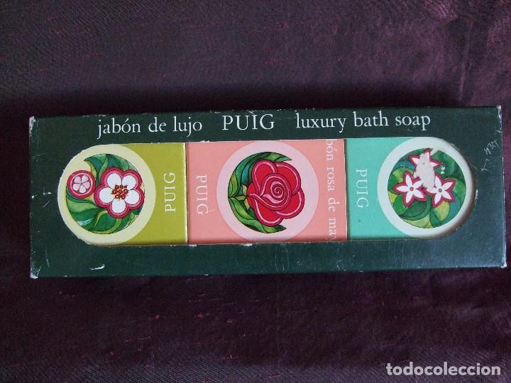 ANTIGUA CAJA DE JABON DE LUJO PUIG. JABONES PERFUMADOS (Coleccionismo - Miniaturas de Perfumes)
