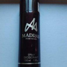 Miniaturas de perfumes antiguos: MADRAS DEODORANT SPRAY DE MYRURGIA 150 ML. DESCATALOGADO. Lote 89503656