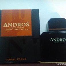 Miniaturas de perfumes antiguos: ANDROS DE PARERA AFTER SHAVE DE 100 ML. DESCATALOGADO. Lote 121681996