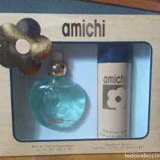 Miniaturas de perfumes antiguos: ESTUCHE AMICHI EAU DE TOILETTE DE 100 ML.+DESODORANTE DE 200 ML. DESCATALOGADO. Lote 90170128