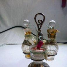Miniaturas de perfumes antiguos: ANTIGUO JUEGO DE BOTELLITA DE PERFUME HERMANOS CORTES BARCELONA. Lote 92765380
