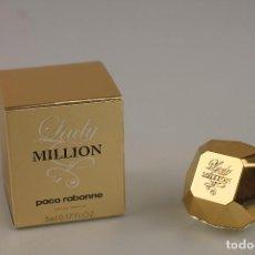Miniaturas de perfumes antiguos: MINIATURA , LADY MILLION, EAU DE PARFUM, PACO RABANNE. Lote 93305470