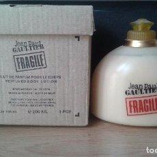 Échantillons de parfums anciens: JEAN PAUL GAULTIER FRAGILE BODY MILK EDP 200 ML - DISCONTINUED. Lote 93971630