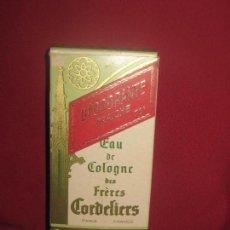 Miniaturas de perfumes antiguos: EAU DE COLOGNE DES FRERES CORDELIERS - PARIS - FRANCE 1/4 LIT - PARIS FRANCIA. Lote 94513586
