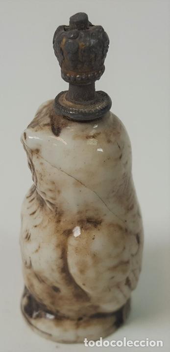 Miniaturas de perfumes antiguos: PERFUMERO. BUHO. PORCELANA ESMALTADA. EUROPA. SIGLO XIX - Foto 2 - 94804231