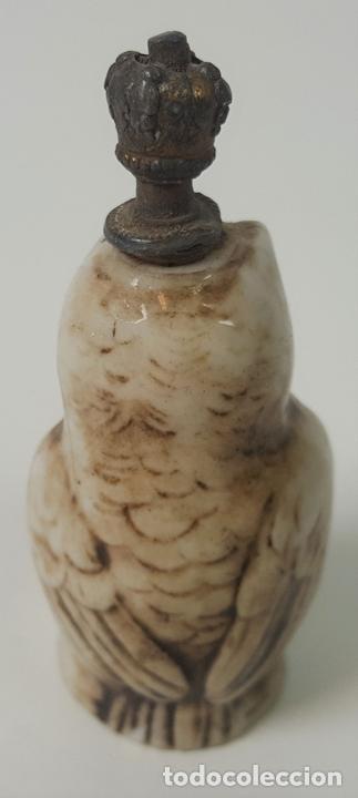 Miniaturas de perfumes antiguos: PERFUMERO. BUHO. PORCELANA ESMALTADA. EUROPA. SIGLO XIX - Foto 3 - 94804231