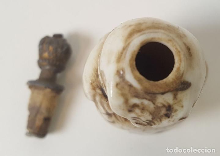 Miniaturas de perfumes antiguos: PERFUMERO. BUHO. PORCELANA ESMALTADA. EUROPA. SIGLO XIX - Foto 6 - 94804231
