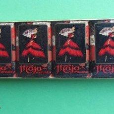 Miniaturas de perfumes antiguos: CAJA 6 PASTILLAS 21 GR JABÓN MAJA DE MYRURGIA - AÑOS 60 - PERFECTO ESTADO. Lote 94904675