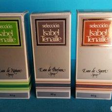 Miniaturas de perfumes antiguos: LOTE COMPLETO SELECCIÓN COLONIAS ISABEL TENAILLE NUEVAS . Lote 96473484
