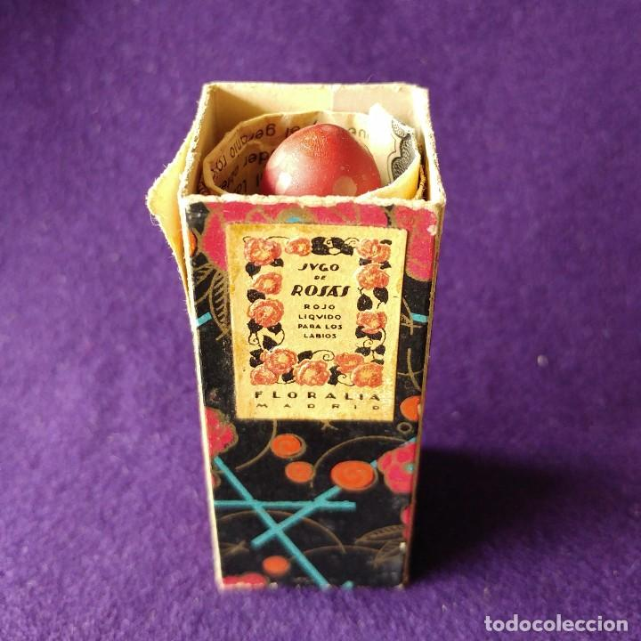 Miniaturas de perfumes antiguos: ANTIGUO Y RARO FRASCO MINIATURA DE PERFUME. JUGO DE ROSAS LIQUIDO. FLORALIA. CON FOLLETO. AÑOS 30 - Foto 6 - 96704335
