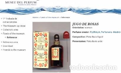 Miniaturas de perfumes antiguos: ANTIGUO Y RARO FRASCO MINIATURA DE PERFUME. JUGO DE ROSAS LIQUIDO. FLORALIA. CON FOLLETO. AÑOS 30 - Foto 8 - 96704335