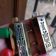 Miniaturas de perfumes antiguos: COTY, PAREJA MINIATURAS DECÓ AÑOS 30, EMERAUDE Y L'AIMANT.. Lote 98160815