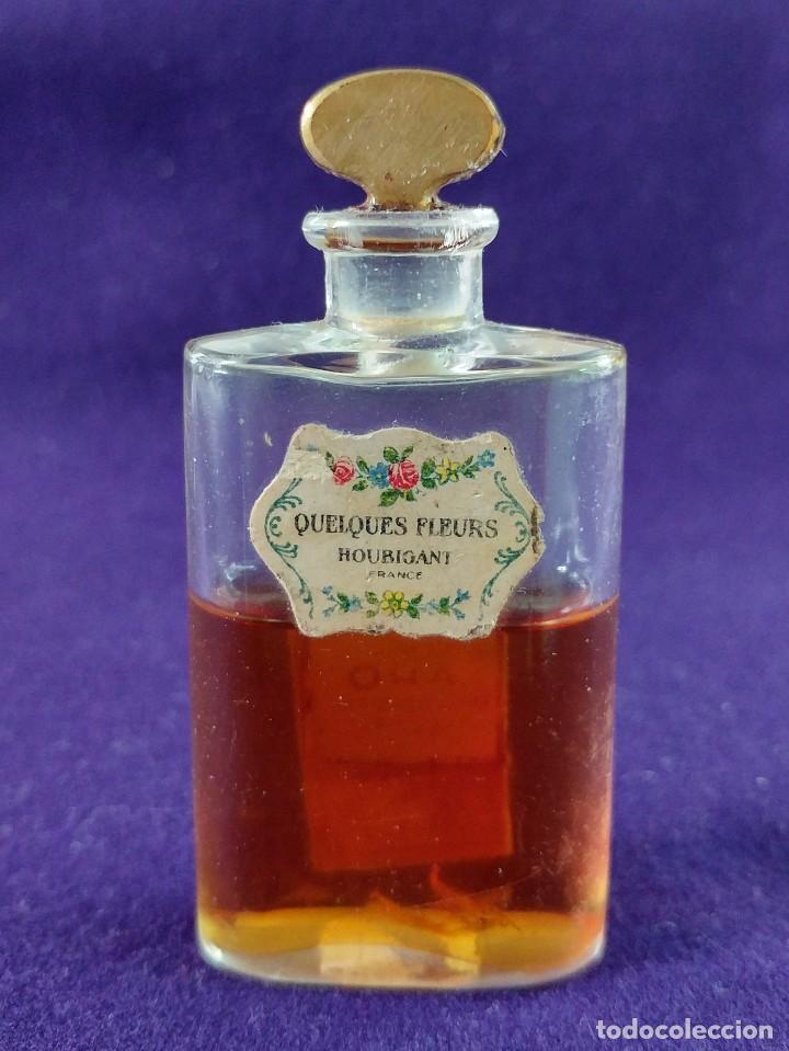 ANTIGUO FRASCO DE PERFUME QUELQUES FLEURS. HOUBIGANT. FRANCE. AÑO 1913. MINIATURA. (Coleccionismo - Miniaturas de Perfumes)