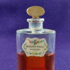 Miniaturas de perfumes antiguos: ANTIGUO FRASCO DE PERFUME QUELQUES FLEURS. HOUBIGANT. FRANCE. AÑO 1913. MINIATURA.. Lote 99364763