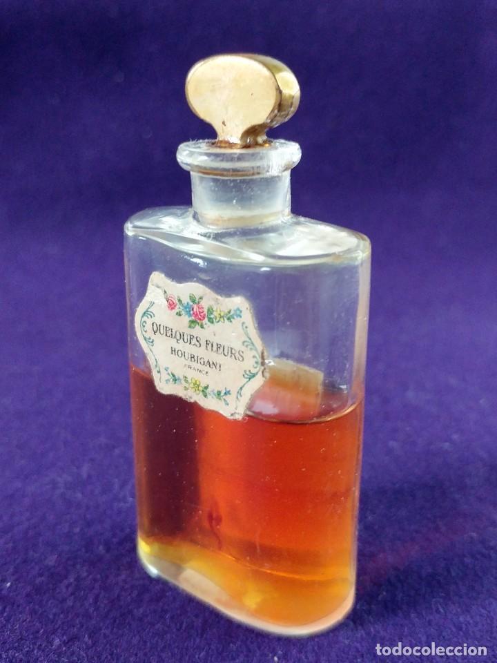 Miniaturas de perfumes antiguos: ANTIGUO FRASCO DE PERFUME QUELQUES FLEURS. HOUBIGANT. FRANCE. AÑO 1913. MINIATURA. - Foto 4 - 99364763